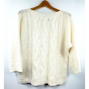 Loft oversize knit sweater creme/white S